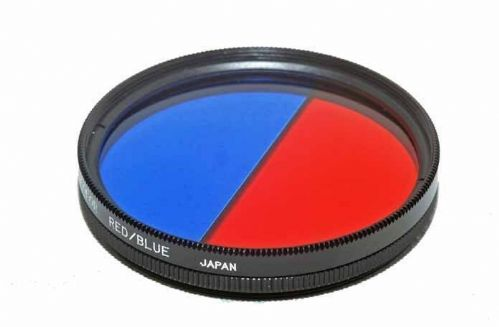 55mm BI-Colour Red/Blue Filter